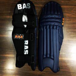 bas players international quality navy batting leg guards mens 953 1