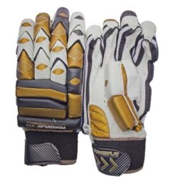 powerplay gold black gold coloured batting gloves 728 1