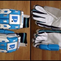 protos professional left handed batting gloves blue white 616
